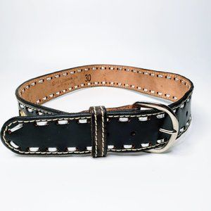 Skins & Leather Co. Python Diamond Leather Belt 30